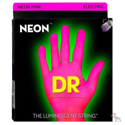 DR NPB-45 K3 Neon Hi-Def Pink Coated Medium Electric Bass Strings (45-105)