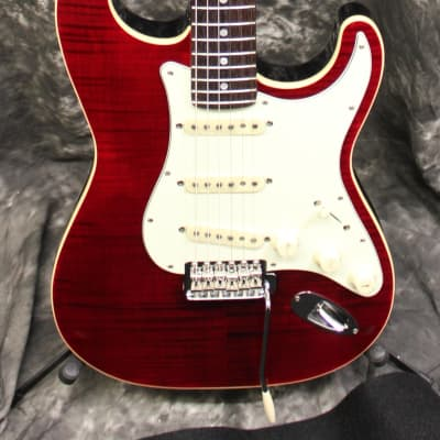 Fender Limited Edition Aerodyne Classic Stratocaster FMT Electric Guitar Crimson Red Transparent w/Gigbag for sale
