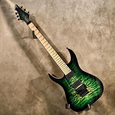 Acacia Guitars Modern Series Hades 6 2018 Emerald Green Burst for sale