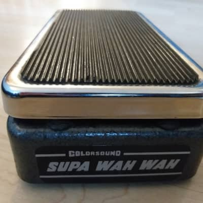 Vintage 1970s Colorsound Supa Wah Wah Sola Sound black & chrome for sale