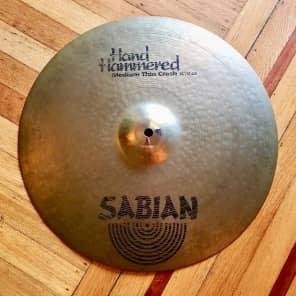 """Sabian  HH hand hammered custom 16"""" medium thin crash 41 cm"""