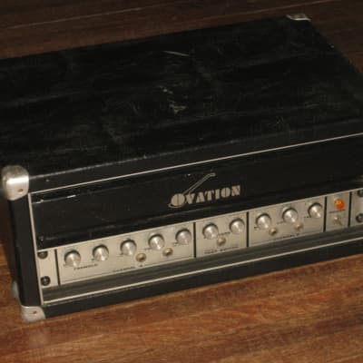 Ovation K6400 Guitar Bass Amplifier Head Solid State 100 Watts Early '70s USA LOUDNESS for sale