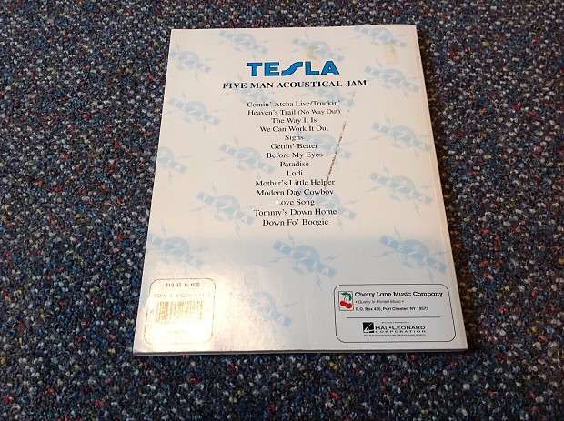 Tesla 5 Man Acoustic Jam Guitar Tab Book Really Nice Gear