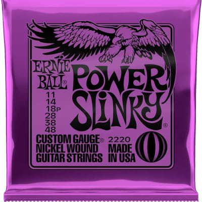 Ernie Ball Electric Guitar Nickel Power Slinky 11-48