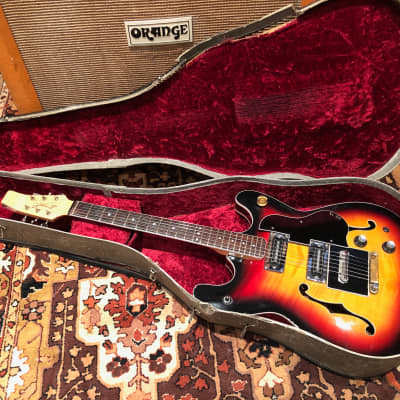Vintage 1966 Baldwin Burns Vibraslim Sunburst Semi Acoustic Guitar 7.0lbs w/ OHSC for sale