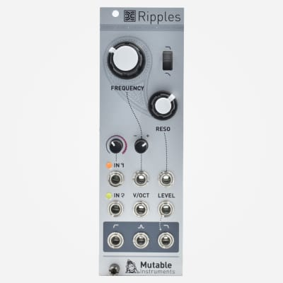 Mutable Instruments RIPPLES (v2) Eurorack Multimode Filter and VCA Module