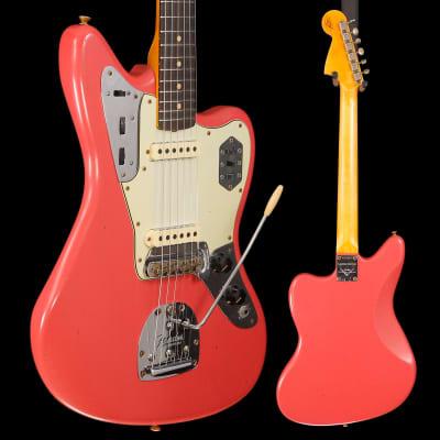 Fender Custom Shop Ltd Ed 1963 Jaguar Journeyman Relic, Fiesta Red 675 8lbs 13oz