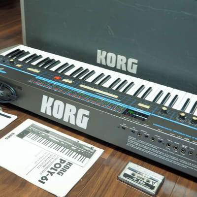 Korg Poly-61 Tubbutec MIDI Excellent condition full set / Hard Case / Casette / Manuals