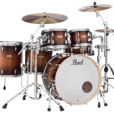 Pearl Session Studio Select Series 5pc Shell Pack w/22 Bass - Gloss Barnwood Brown