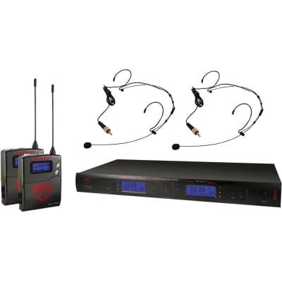 Nady 2W-1KU HM-10 Dual True Diversity 1000-Channel UHF Wireless Headset Microphone System