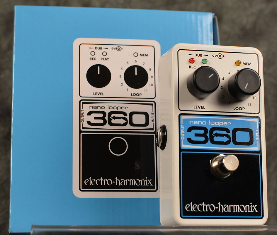 Electro-Harmonix 360 Nano Looper w/ 2 Free Patch Cables and Free Same Day  Shipping