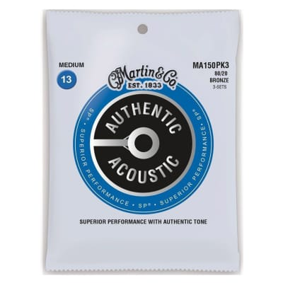 Martin Strings 80/20 Bronze Acoustic Guitar Strings 13-56 MA150 for sale