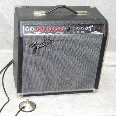 Fender Champ 12 1x12 tube electric guitar combo amp with footswitch for sale