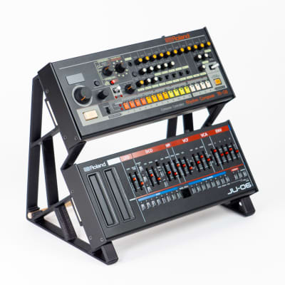 3DWaves Vertical Dual Tier Stands For The Roland Boutique Synthesizers And Drum Machines