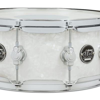 DW Performance Series Finishply Snare Drum - 14x5.5 - White Marine