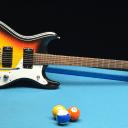 1965 Mosrite Ventures II Sunburst Electric Guitar with OHSC