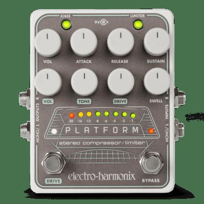New Electro-Harmonix EHX Platform Stereo Compressor/Limiter Guitar Effects Pedal