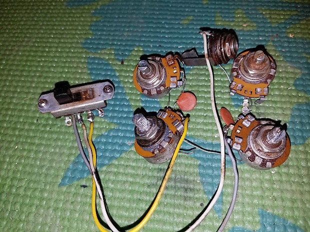 Vintage Gibson Melody Maker or Firebird Non Reverse Wiring Harness on