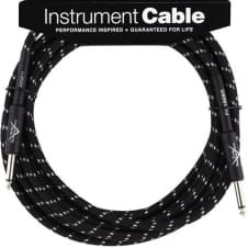 Fender 18.6' Custom Shop Series Instrument Cable, Black