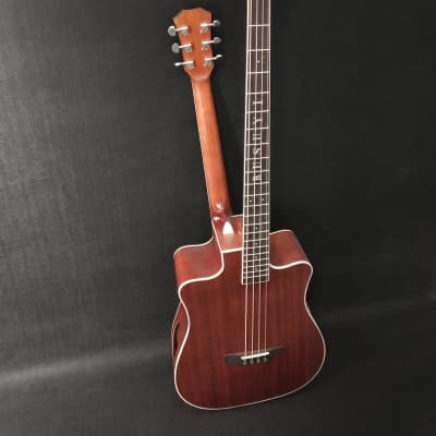 4 Strings Bass /6 Strings Acoustic Double Sided, Double Cutaway Busuyi Guitar With Tuner 4 Ports