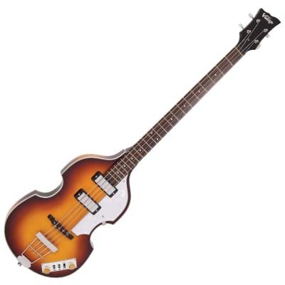 Vintage Bass VVB4SB 'Violin' Bass w/Hard Case, Antique Sunburst