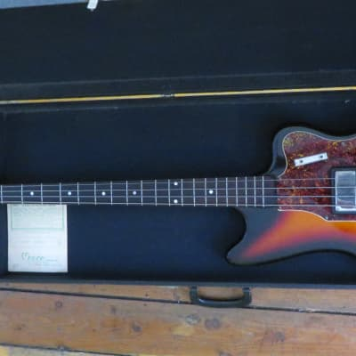Supro Vintage 1960's Electric Bass w/ OHSC & Warranty Card Made In Chicago for sale