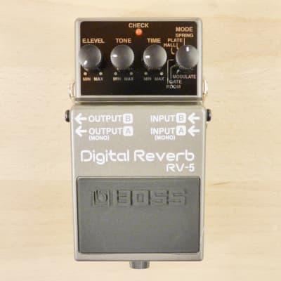 Boss RV-5 Digital Reverb Pedal - Stereo Emulator Has Spring, Plate, & Hall Reverb + More - VG Cond.