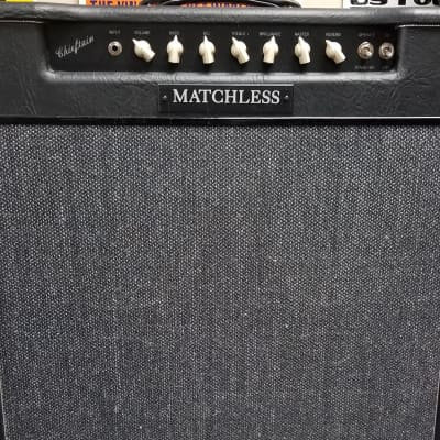 Sampson Era First Run Matchless Chieftain 4x10 combo 1990's Black Tolex with Grey Grille Cloth for sale