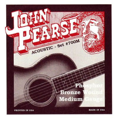 John Pearse 700M Phosphor Bronze Wound Acoustic Guitar Strings - Medium