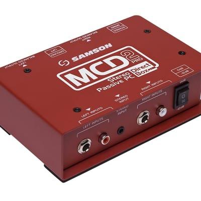Samson MCD2 Pro S-Max Series Stereo Passive PC Direct Box
