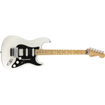 Fender Player Stratocaster Floyd Rose HSS Polar White Maple Neck for sale
