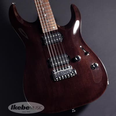 T's Guitars DST-Pro24 Carved Top, Mahogany (Trans Black) #031712 -Made in Japan- for sale