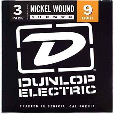 Dunlop Nickel Plated Lights, 3pack