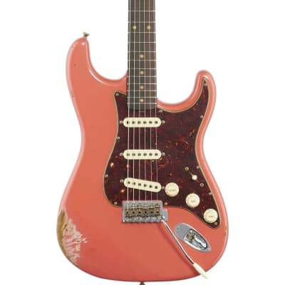 Fender Custom Shop 1960 Heavy Relic Stratocaster Electric Guitar (with Case), Aged Fiesta Red
