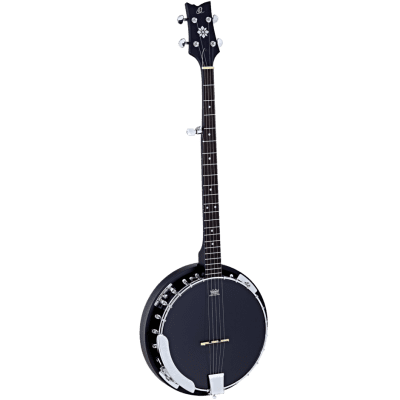 Ortega Raven Series OBJ250-SBK 5-String Banjo, w/ Gig Bag for sale