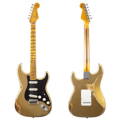 Fender Custom Shop 1957 Stratocaster Heavy Relic, Lark Guitars Custom Run -  Aztec Gold (110) for sale