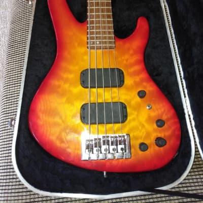 Washburn 5 string Active Bass 1998 Sunburst for sale