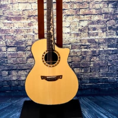 Crafter  KML-1000 Prestige Grand Auditorium Engelmann Spruce Top Natural Gloss Natural for sale