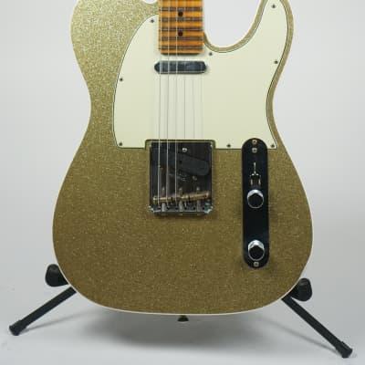 Fender Custom Shop Postmodern Telecaster Journeyman Relic MN Sparkle Gold with Black Back for sale