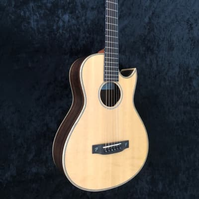 NEW Terry Pack PLRS parlour acoustic guitar, solid rosewood, Sitka, cutaway, small size  - big sound for sale