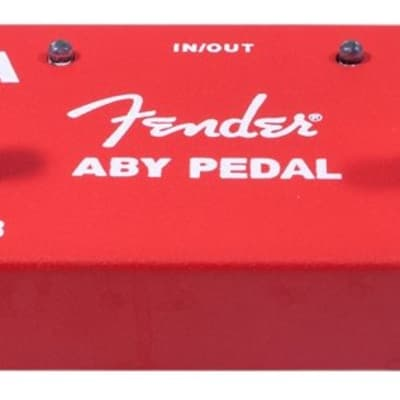 Fender 2-Switch ABY Pedal, Red for sale