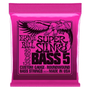 Ernie Ball 2824 Super Slinky 5-String Nickel Wound Electric Bass Strings
