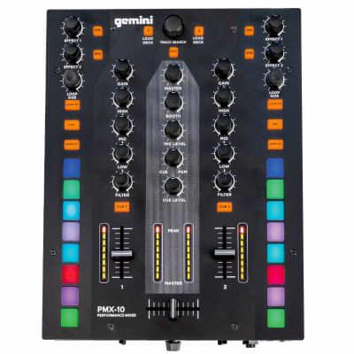Gemini PMX-10 2-Channel Combat-Ready Performance Digital Scratch DJ Mixer