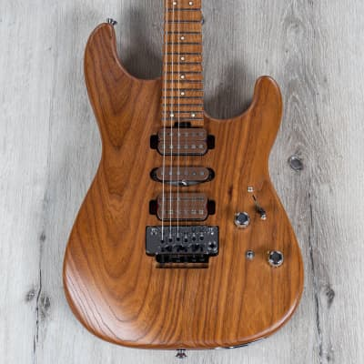 Charvel Guthrie Govan HSH Caramelized Ash Signature Guitar, Roasted Flame Maple Neck and Fretboard