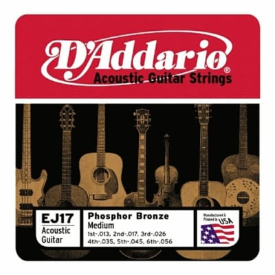 D'Addario Phosphor Bronze Acoustic Guitar Strings - Medium