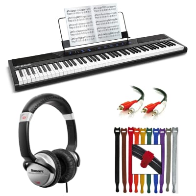 Alesis Concert 88-Key Digital Piano with Full-Size Semi Weighted Keys With Touch Response + Numark D