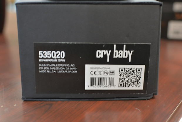 Dunlop Limited Edition 20th Anniversary 535q20 Crybaby