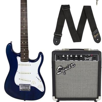 Fender Squier Short Scale 24-Inch Strat Pack - Transparent Blue