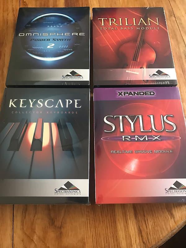 Spectrasonics BUNDLE - Omnisphere 2, Trilian, Stylus RMX, Keyscape