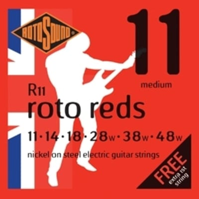 RotoSound Roto Reds Medium Electric Guitar Strings - 11's